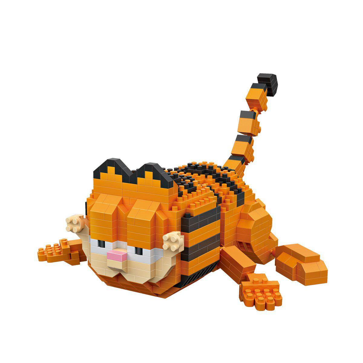Fancy LOZ Cute Cartoon Creeping Cat Style ABS Building Blocks Set Kids Toy