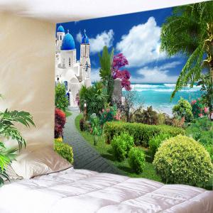 Sea Castle Garden Print Tapestry Wall Hanging Art Decoration