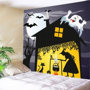 Halloween Night Witch Print Tapestry Wall Hanging Art Decoration