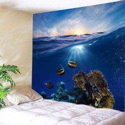 Ocean Fish Print Tapestry Wall Hanging Art Decoration -
