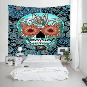 Mandala Skull Print Tapestry Wall Hanging Art Décoration - Multicolore Largeur 59pouces*Longeur 51pouces