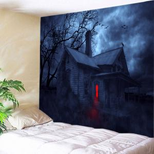 Halloween Night House Print Tapestry Wall Hanging Art Decoration