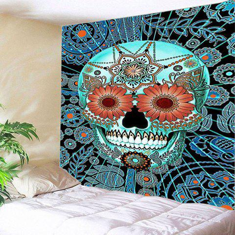 Mandala Skull Print Tapestry Wall Hanging Art Décoration Multicolore Largeur 59pouces*Longeur 51pouces
