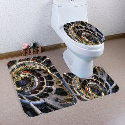 European Style Buildings Pattern 3 Pcs Bath Mat Toilet Mat - COLORMIX