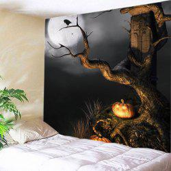 Halloween Moon Tree Print Tapestry Wall Hanging Art Decoration