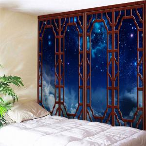 Window Starry Sky Print Tapestry Wall Hanging Art Decoration