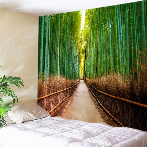 Bamboo Forest Pathway Print Tapestry Wall Hanging Art Decoration