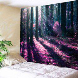 Sunlight Forest Flowers Print Tapestry Wall Hanging Art Decoration