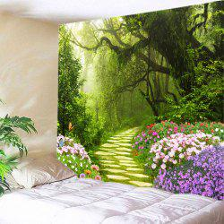Floral Forest Path Print Tapestry Wall Hanging Art Decoration