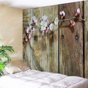 Plum Blossom Plank Print Vintage Wall Tapestry