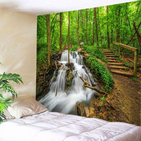 Forest Streams Print Tapestry Wall Hanging Art Decor - Green - W91 Inch * L71 Inch