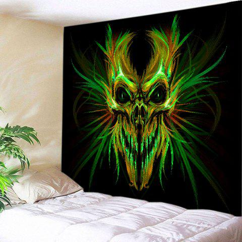 Halloween Skull Print Tapestry Wall Hanging Art Decoration - Colormix - W91 Inch * L71 Inch