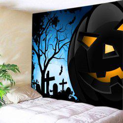 Halloween Night Pumpkin Print Tapestry Wall Hanging Art Decoration