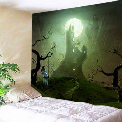 Halloween Moon Castle Print Tapestry Wall Hanging Art Décoration