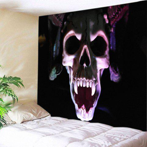 Vampire Skull Print Tapestry Wall Hanging Art Decoration - Black - W91 Inch * L71 Inch