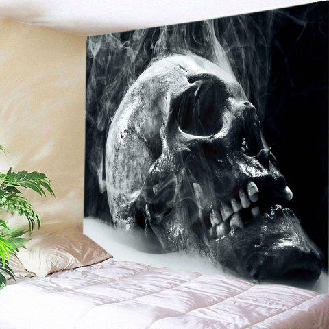Skull Reeky Print Tapestry Wall Hanging Art Decoration - Black - W91 Inch * L71 Inch