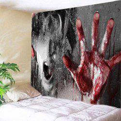 Scary Bloody Hand Print Tapestry Wall Hanging Art Decoration
