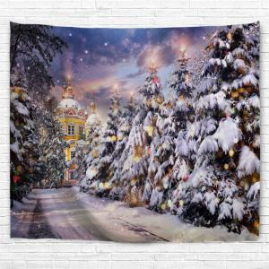 Christmas Pathway Print Tapestry Wall Hanging Art Decoration - COLORMIX W59 INCH * L51 INCH