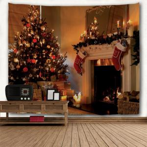 Colormix W91 Inch * L71 Inch Christmas Fireplace Printed Wall ...