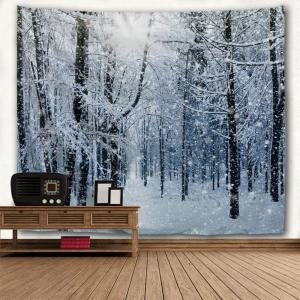 Snow Forest Print Tapestry Wall Hanging Art Decoration -