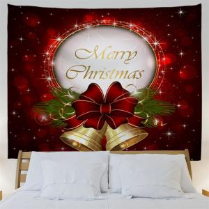 Christmas Bells Print Tapestry Wall Hanging Art Decoration -