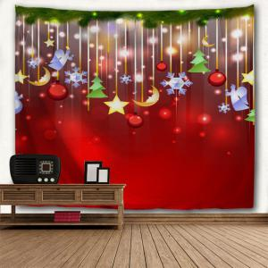Christmas Star Moon Tree Wall Tapestry -