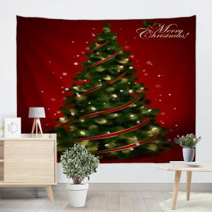 Wall Hanging Decoration Christmas Tree Print Tapestry -