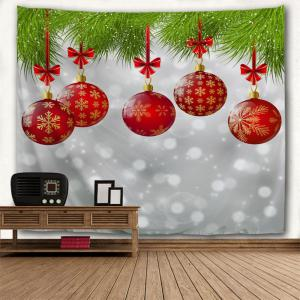 Wall Hanging Christmas Balls Print Tapestry - COLORMIX W91 INCH * L71 INCH