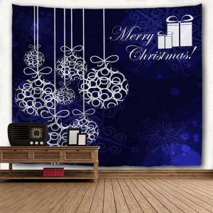 Christmas Baubles Print Tapestry Wall Hanging Art Decoration -