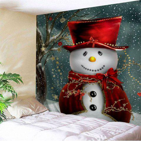 Unique Christmas Snowman Pattern Bedroom Tapestry COLORMIX W91 INCH * L71 INCH