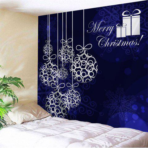 Unique Christmas Baubles Print Tapestry Wall Hanging Art Decoration