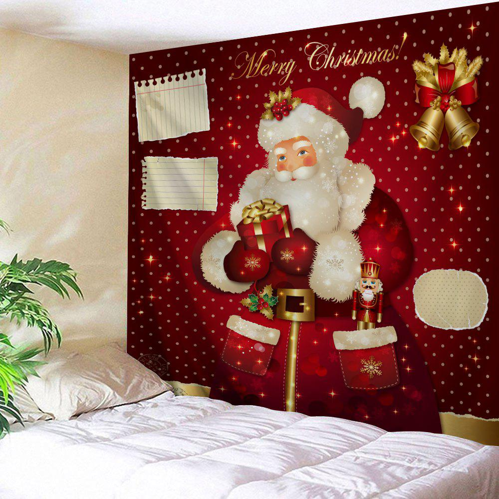 2019 Christmas Bell Santa Claus Wall Decor Tapestry