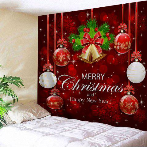 39 wall decor merry christmas bell ball tapestry - Christmas Wall Hanging Decorations