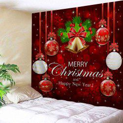 Wall Decor Merry Christmas Bell Ball Tapestry - Red - W59 Inch * L51 Inch