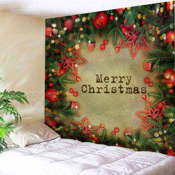 Merry Christmas Bell Print Tapestry Wall Hanging Art Decoration - W59 Inch * L51 Inch
