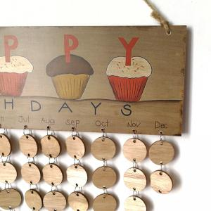 DIY Wooden Family And Friends Happy Birthday Calendar Board - ROUND