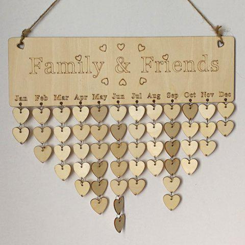 Outfits DIY Wooden Family And Friends Birthday Calendar Board HEART
