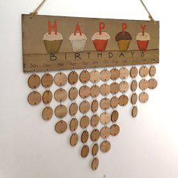 DIY Wooden Family and Friends Happy Birthday Calendar Board - Rond