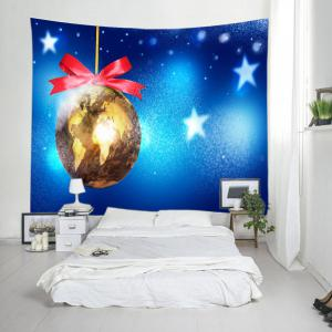 Christmas Map Bauble Print Tapestry Wall Hanging Art Decoration -