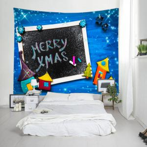 Merry Xmas Print Tapestry Wall Hanging Art Decoration -