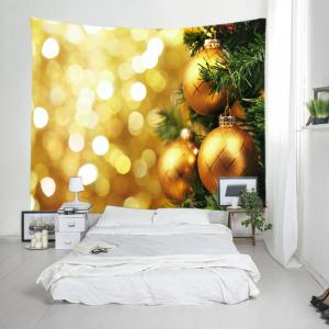 Christmas Hanging Baubles Print Tapestry Wall Hanging Art Decoration -