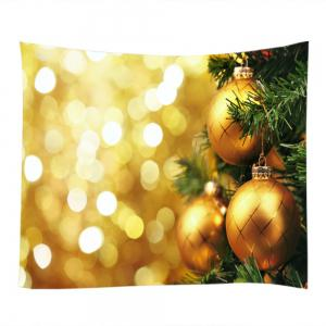 Christmas Hanging Baubles Print Tapestry Wall Hanging Art Décoration -