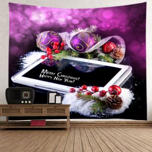 Christmas Panel Computer Print Tapestry Wall Hanging Art Decoration -