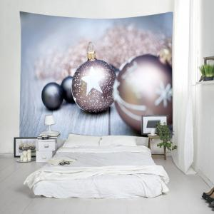 Christmas Bauble Wood Print Tapestry Wall Hanging Art Decoration -