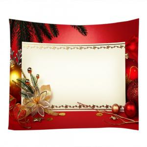 Christmas Decorations Print Tapestry Wall Hanging Decor - RED W59 INCH * L51 INCH