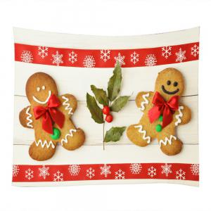 Biscuits de Noël People Print Tapisserie Wall Hanging Art Decoration - Multicolore