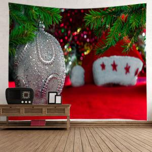 Christmas Bauble Hat Print Tapestry Wall Hanging Art Decoration -