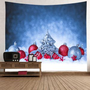 Snowfield Christmas Baubles Print Tapestry Wall Hanging Art Décoration -