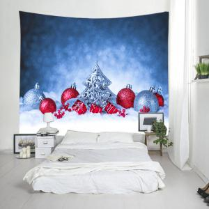 Snowfield Christmas Baubles Print Tapestry Wall Hanging Art Décoration - Multicolore