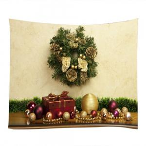 Bijoux de Noël Gift Print Tapestry Wall Hanging Decoration - Multicolore Largeur59pouces*Longeur59pouces